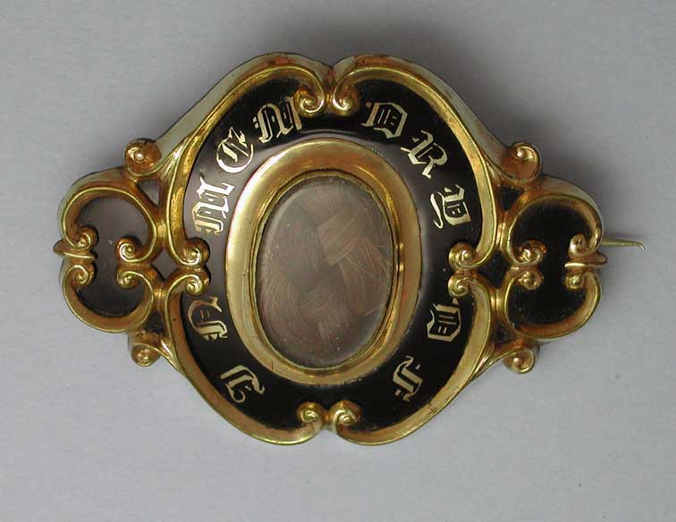 Brooch with Hair