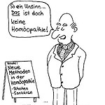 Homöopathie Cartoon Kongress